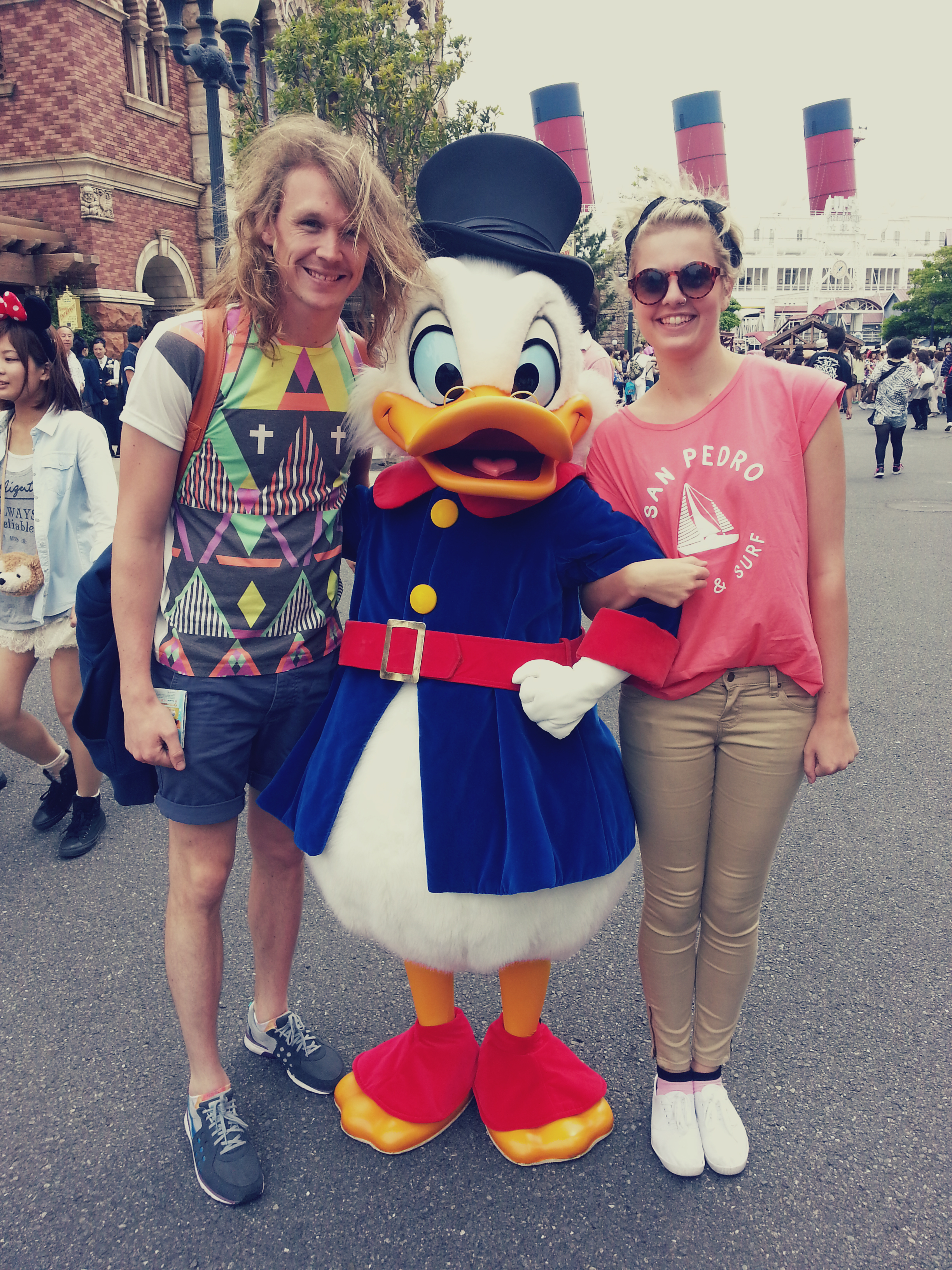 We met Scrooge...even though we thought he was Donald Duck.