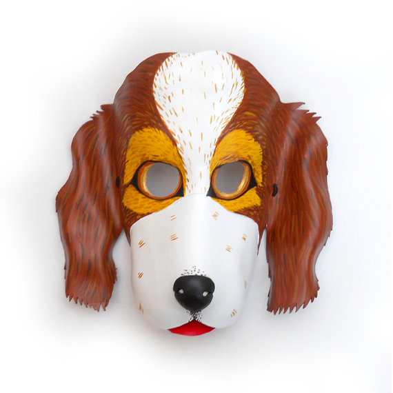 http://www.etsy.com/listing/104655031/dog-leather-mask-brown-and-white-cocker?ref=exp_listing